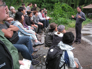 andrew faust teaching permaculture in Brooklyn