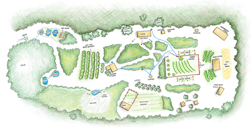 Center for BioRegional Living - CLick to view Ellenville Permaculture Campus