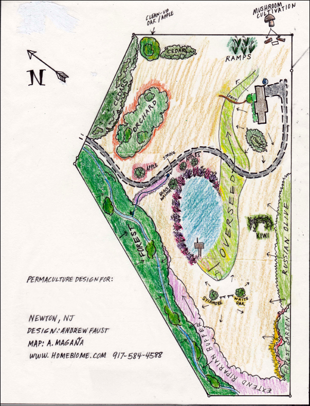 Permaculture Map Design for property in Newton, New Jersey