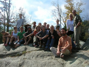 Permaculture graduates from center of bioregional living with Andrew Faust